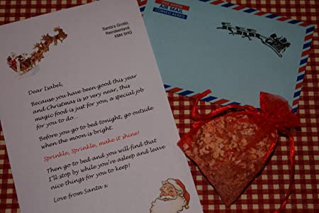 Magical reindeer food with personalised letter from santa in airmail magical reindeer food with personalised letter from santa in airmail envelope with reindeer stamp spiritdancerdesigns Image collections