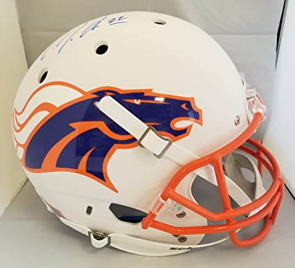 36f2377045cc6 Amazon.com: CJ Anderson Autographed Signed Full Size Helmet Denver ...