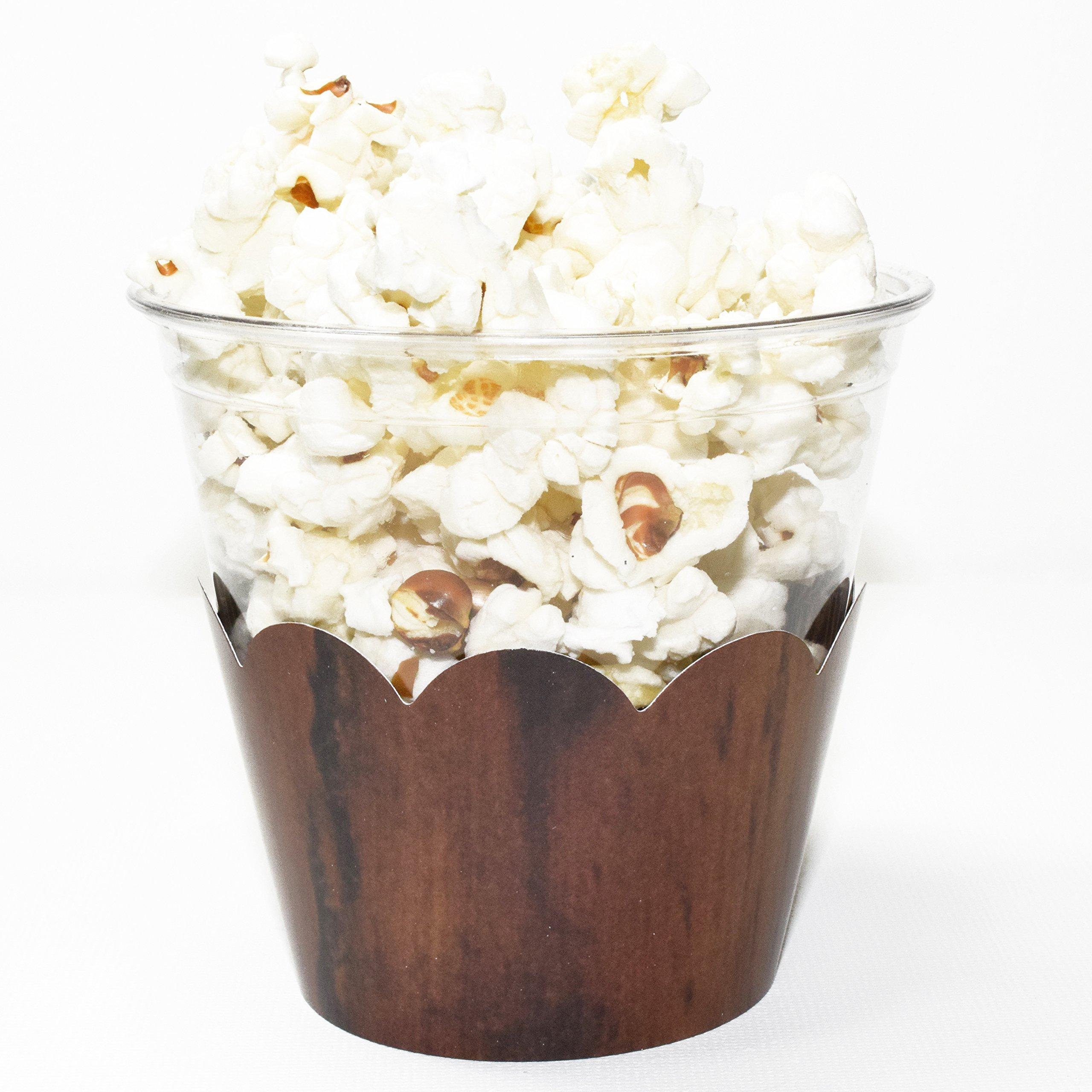 Woodsy Wedding Ideas: Wood Grain Cupcake Wrappers, Lumberjack Theme, Woodsy