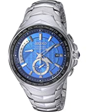 Seiko Men's COUTURA Japanese-Quartz Watch with Stainless-Steel Strap, Silver, 24 (Model: SSG019