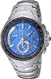 Seiko Men's Radio Sync Solar Coutura Silvertone Watch
