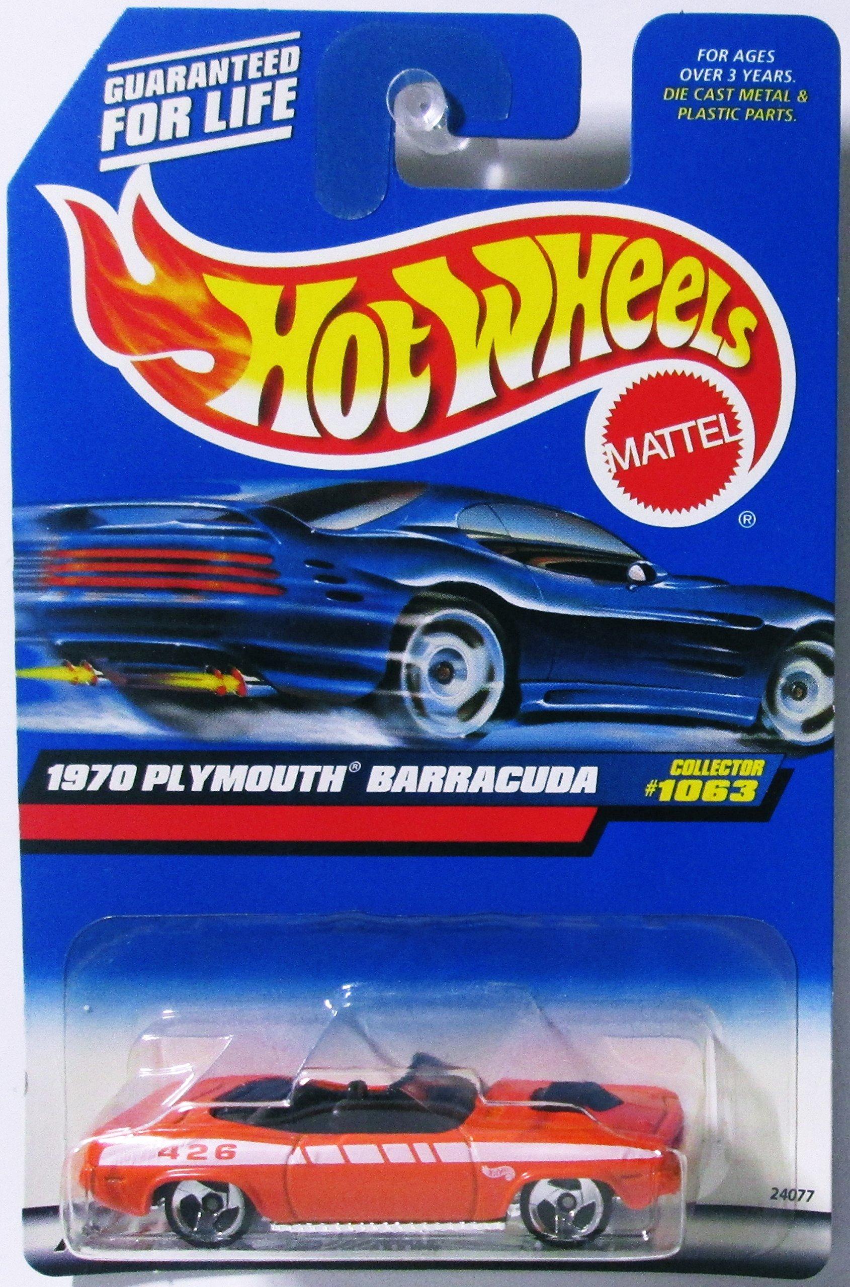 Mattel Hot Wheels 1999 1:64 Scale Orange 1970 Plymouth Barracuda Die Cast Car Collector #1063