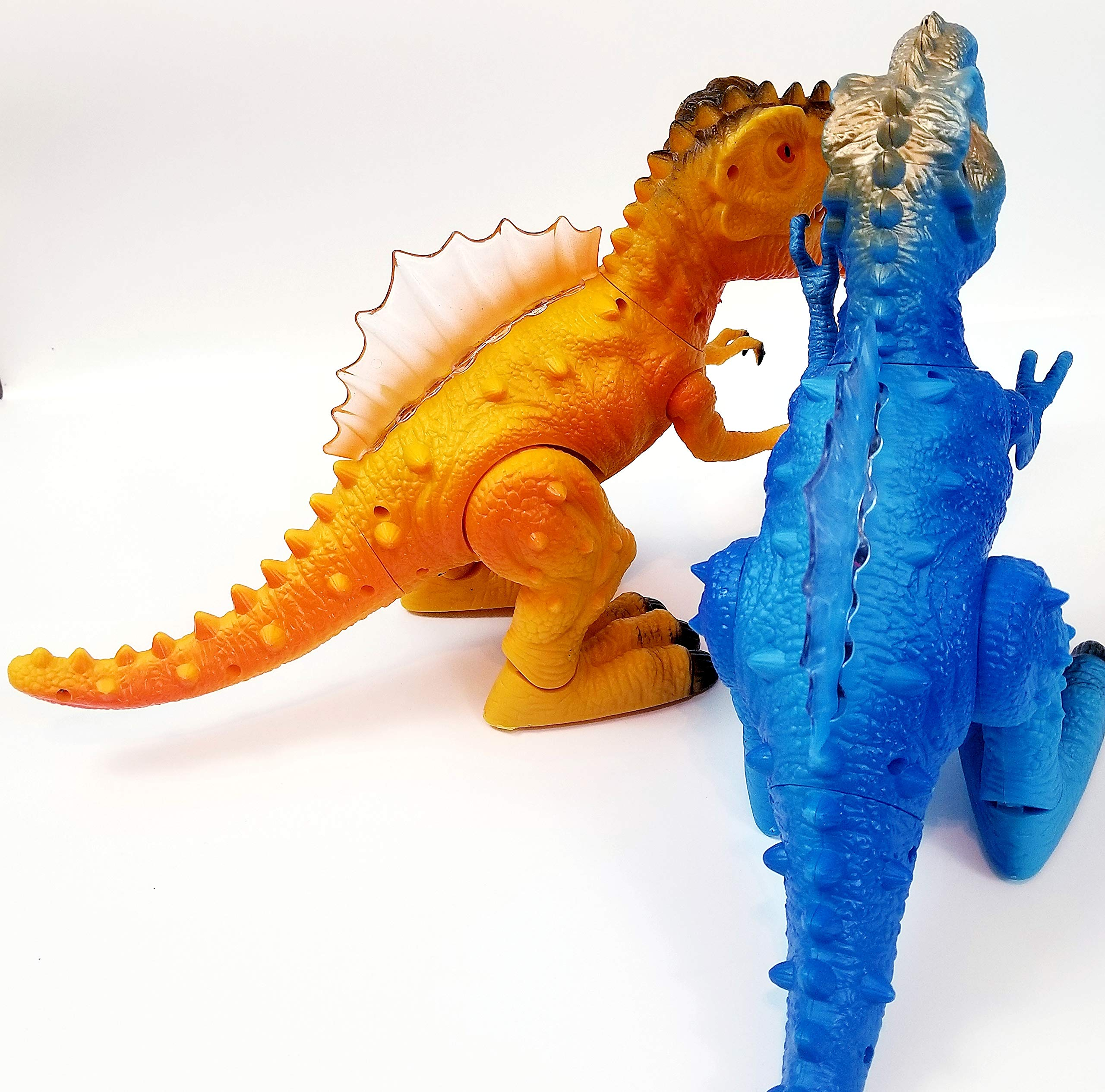 T-Rex Electronic Walking Dinosaur with Flashing Lights and Realistic Animal Sounds (Blue) by Vabliss (Image #2)