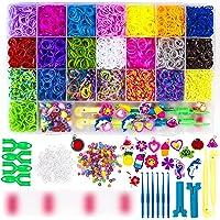 Loom Bands Kit, WONDERFORU 6800+ rubberen banden met haken & S-clips, weefgetouw Twist Bands Kit voor ambacht, kunst…