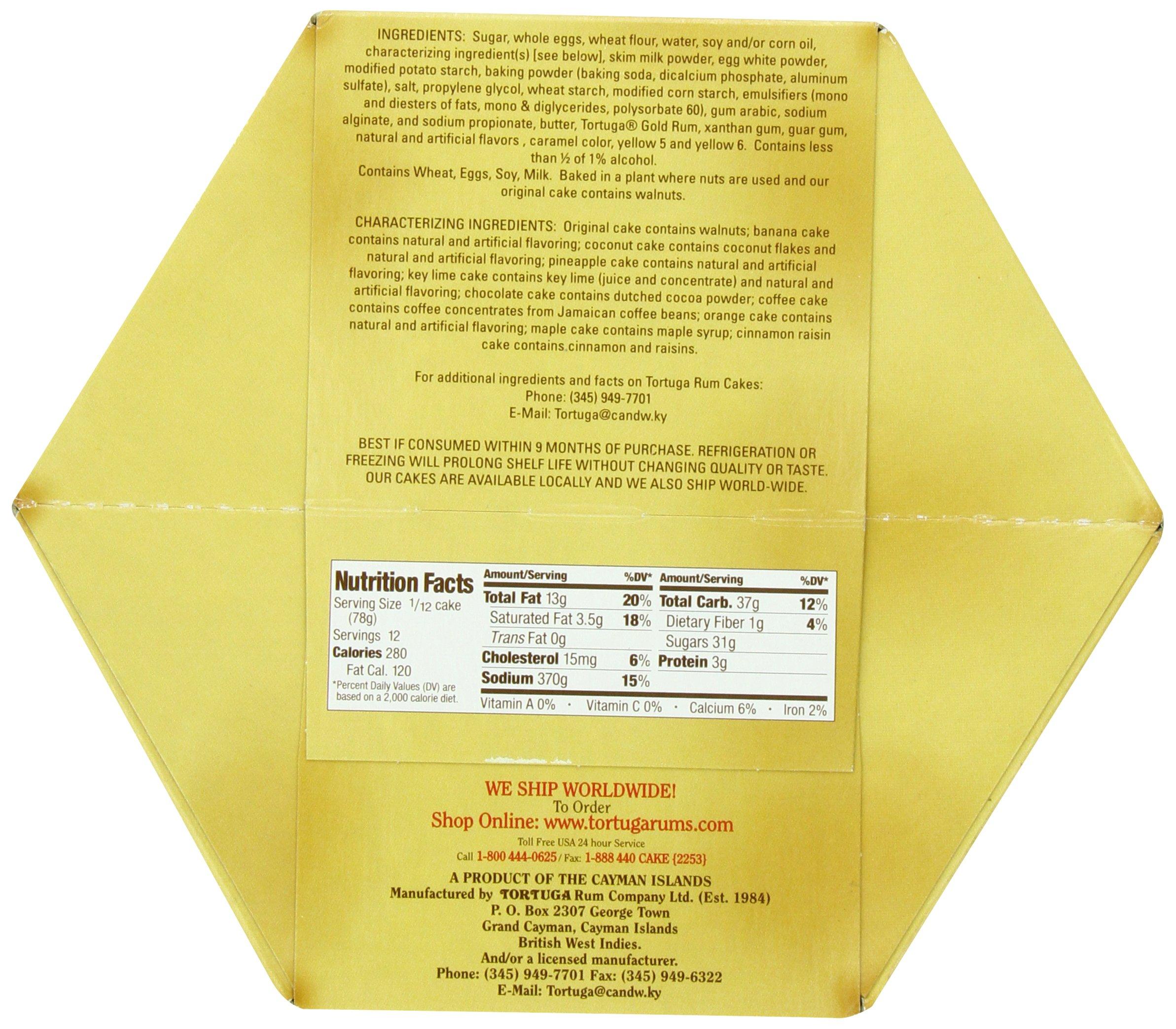 Tortuga Caribbean Rum Cake, Key Lime, net weight .32 Ounce(907 gram)