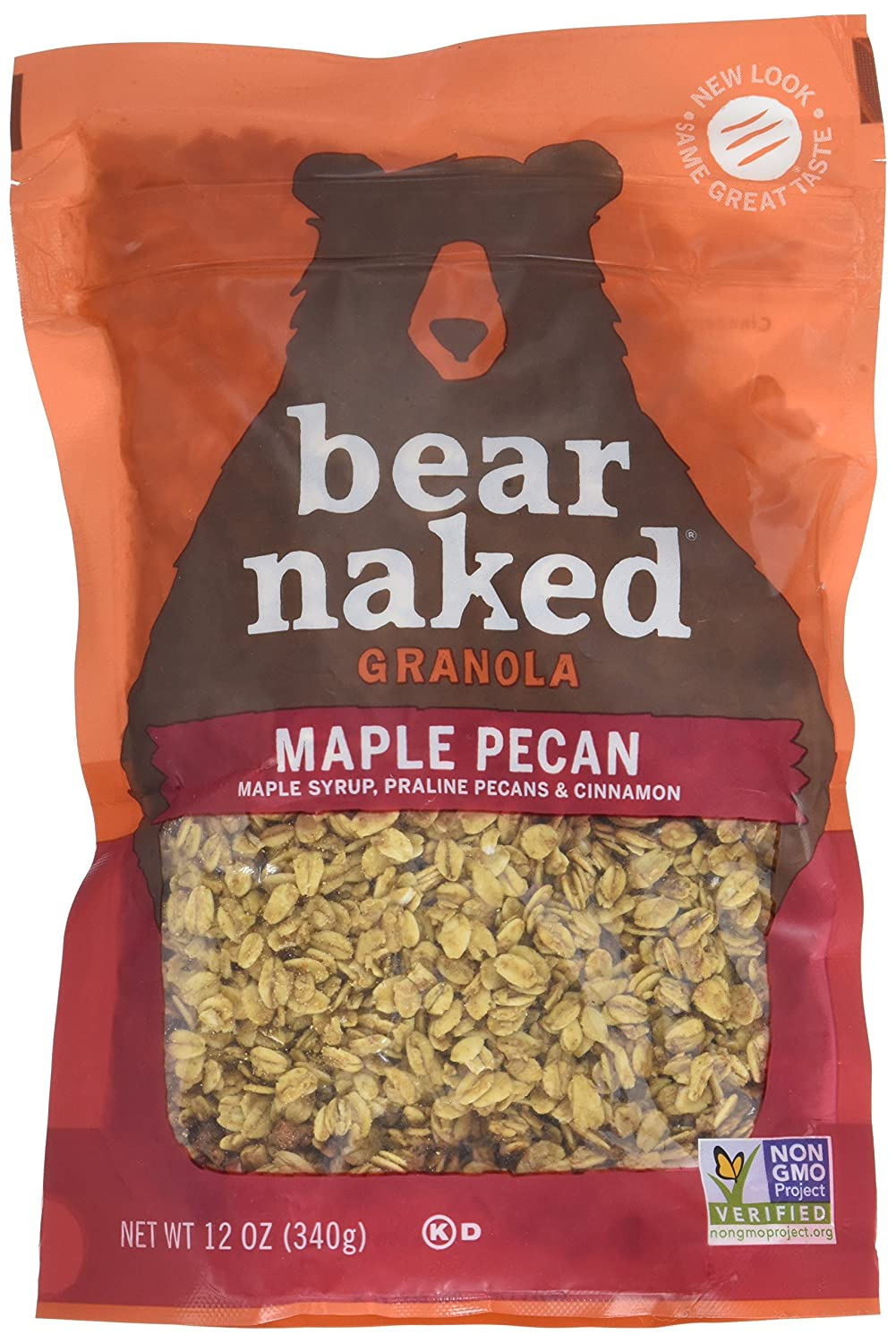 Bear Naked Maple Pecan Granola, 12 Ounce - 6 per case.