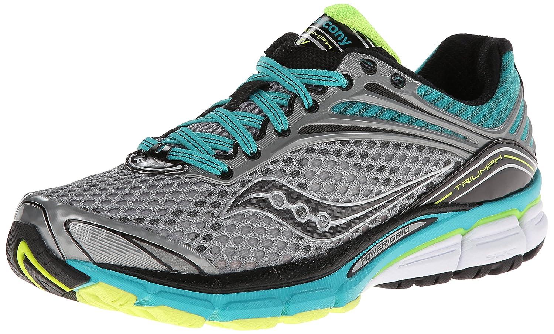Saucony Women's Triumph 11 Running Shoe B00GWJR37Q 7.5 B(M) US|Grey/Teal/Citron