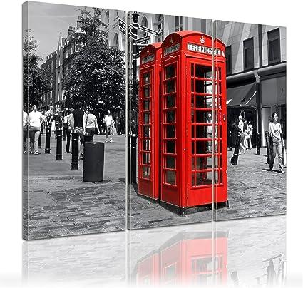 Bilderdepot24 Bastidor Imagen - Cuadros en Lienzo Red Telephone (Inglaterra) 60x50cm - Made in Germany!: Amazon.es: Hogar