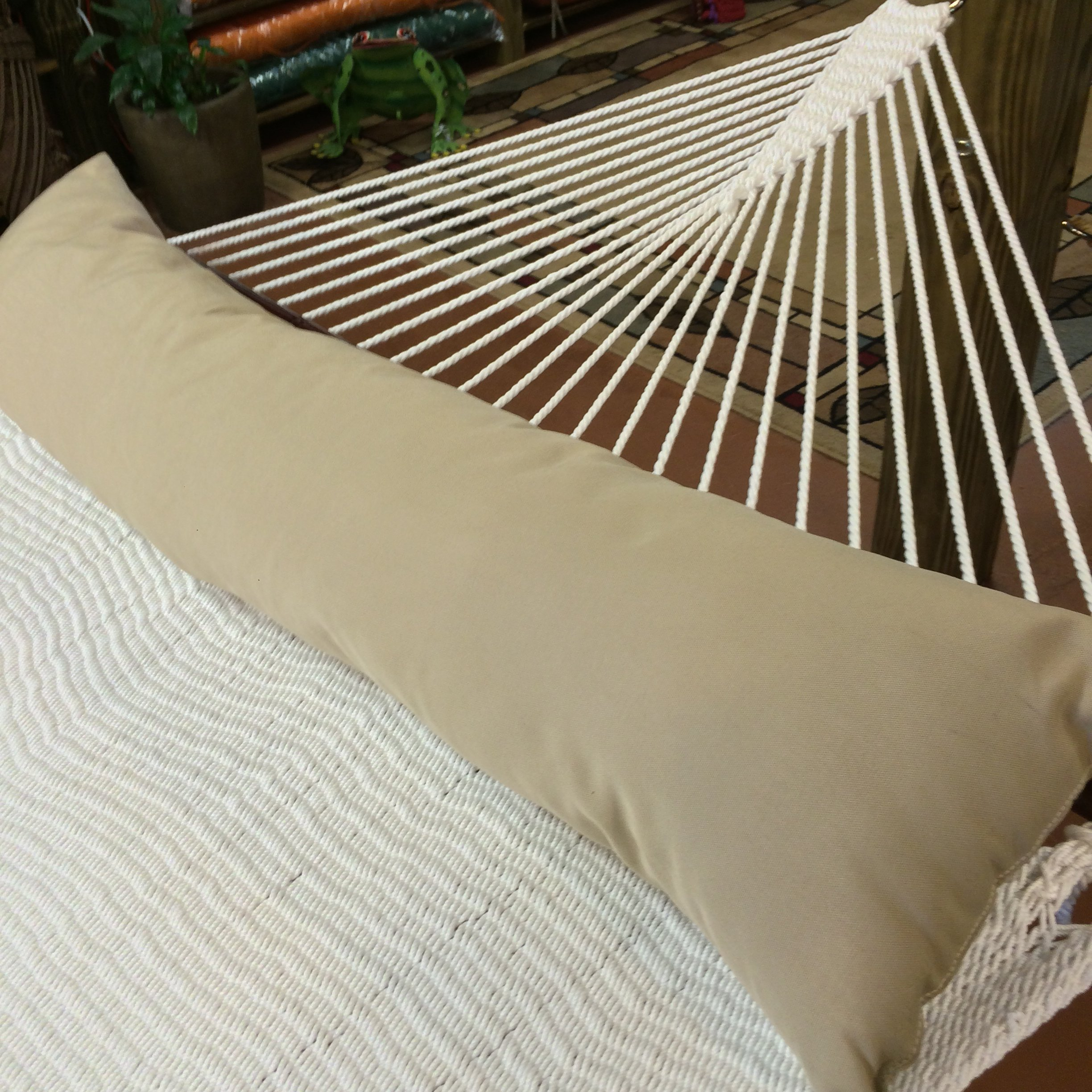 Caribbean Hammocks Double Hammock Pillow, Antique Beige by Caribbean Hammocks (Image #4)