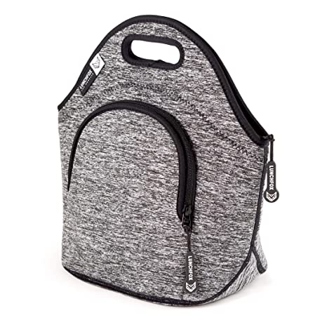 c517772226e6 Insulated Lunch Bags for Women/Men by LunchFox - 'The Silver Lake' Heather  Grey Melange - (The Original) Ultra Thick Neoprene Lunch Bag/Tote - The ...