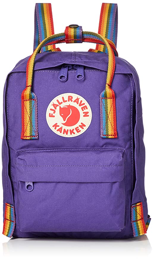 FJALLRAVEN Kånken Mini Mochila, Unisex Adulto, (Purple/Rainbow Pattern), Talla