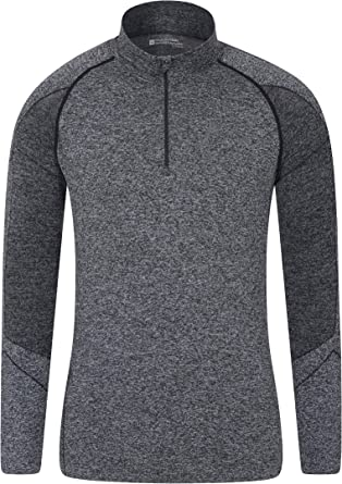 Mountain Warehouse Mens No Zip with IsoTherm Heat Retention Technology