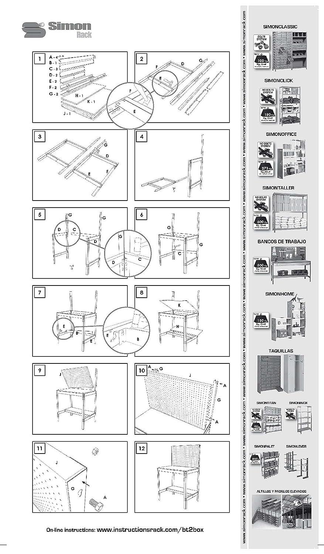 Amazon.com: Simonrack 8435104919651 BT-2 900 Kit Shelf, Blue/Wood: Home Improvement