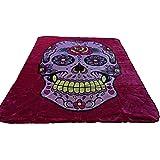 Brand New! 5 Pounds! Pink Sugar Skull Soft Korean Style Mink Blanket