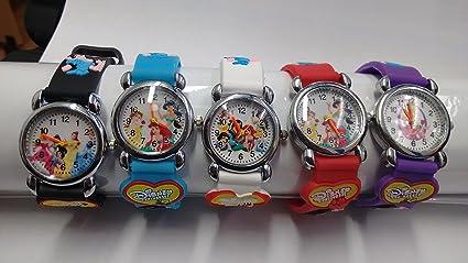 Oferta de Navidad *** tres relojes al precio de dos*** elegante y encantador diseño 3D; relojes de alta calidad para regalos a niñas y niños, color SET OF 5 WATCHES DISNEY PRINCESS: