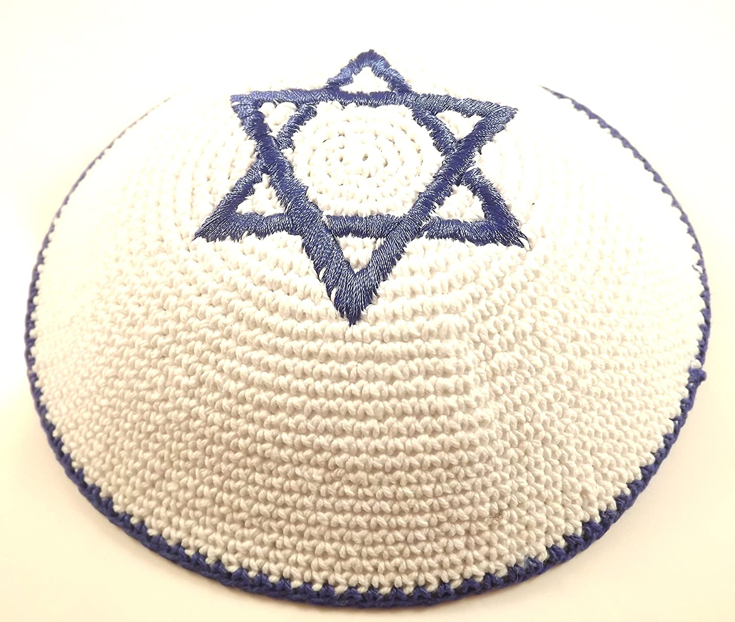 Amazon.com : High Quality Knitted Star of David Yarmulke Kippah 16 ...