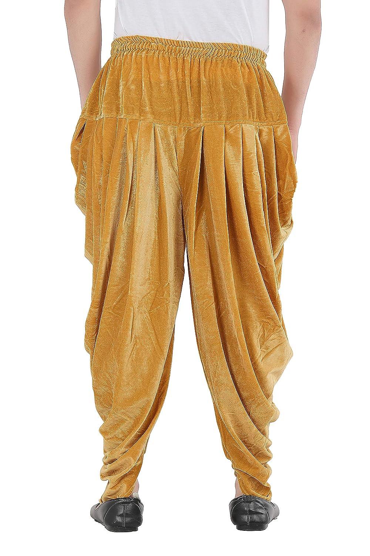 Patiala-Pants-Salwar-fuer-Maenner-Samt-elastischer-Bund-handgefertigt-laessig-Wear Indexbild 3