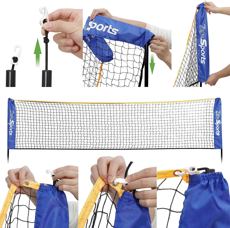 290 x 145 cm Xuey Portable Badminton Net Outdoor Foldable Tennis Volleyball Net Stand Beach Sport Badminton Mesh Holder