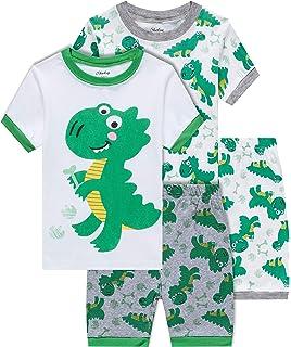 84380f949e shelry Boys Dinosaur Pajamas Children Christmas Clothes 100% Cotton Kids  Sleepwear