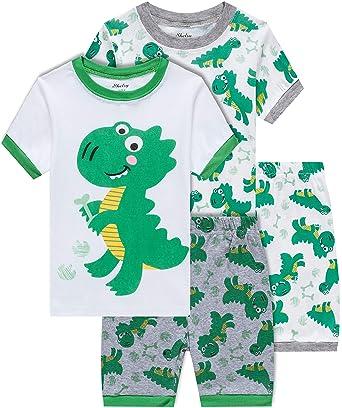 cb77fa087bac Amazon.com  shelry Boys Dinosaur Pajamas Children Christmas Clothes ...