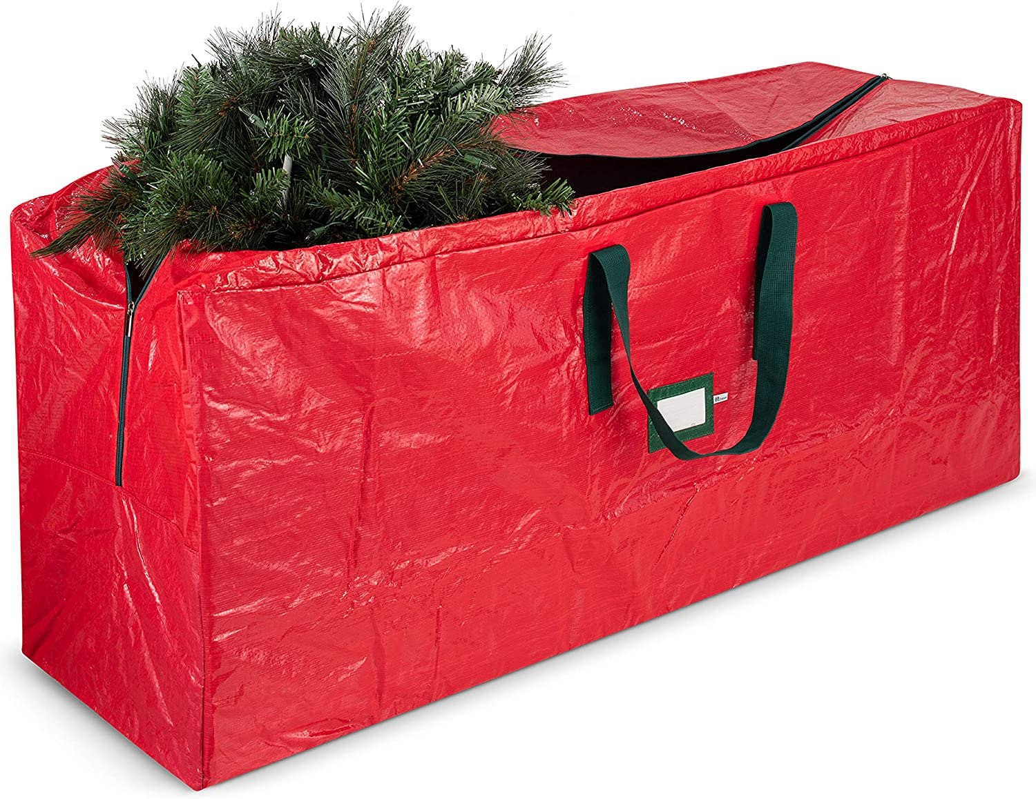 Durable Quality Christmas Tree Storage Bag-Fits Trees Up to 6 Feet Tall White