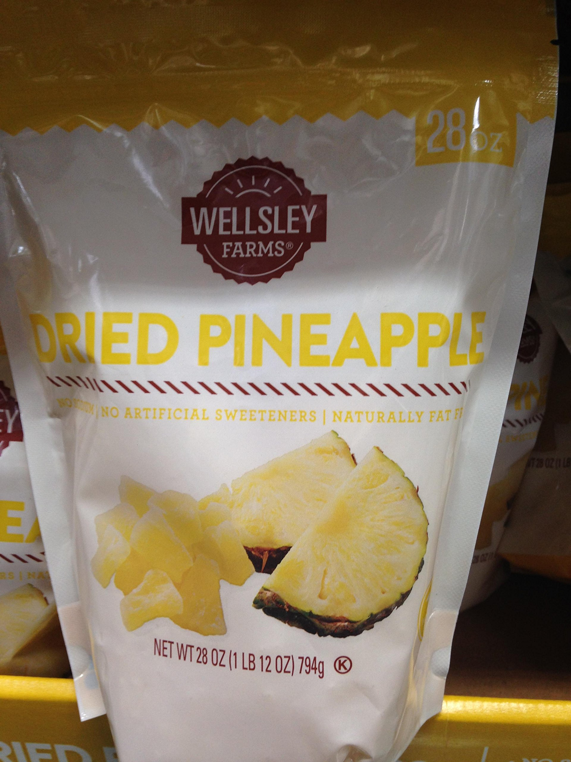Wellsley Farms Dried Pineapple, 28 oz. (pack of 6)