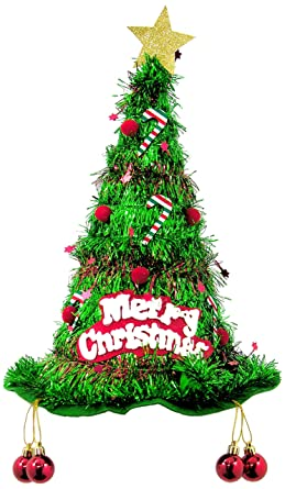 forum mens christmas tree tinsel hat green one size - Christmas Tree Tinsel