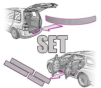 Ladekantenschutz ANLEITUNG in 3D CARBON SCHWARZ Folie RAKEL passende Schutzfolie von CCW/© Einstiegsleisten SET