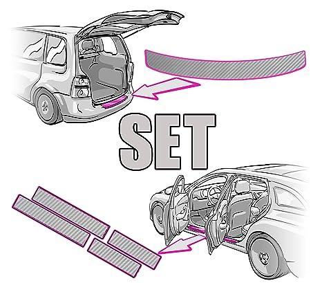 Mercedes Benz V-Klasse V447 W447 Ladekantenschutz 3D CARBON SILBER