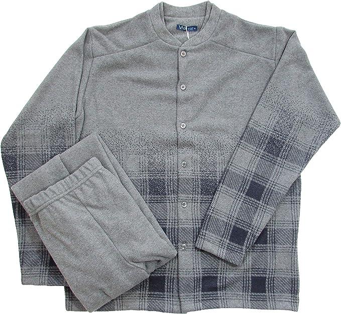 Venere - Pijama Abierto para Hombre, de Invierno, de algodón ...