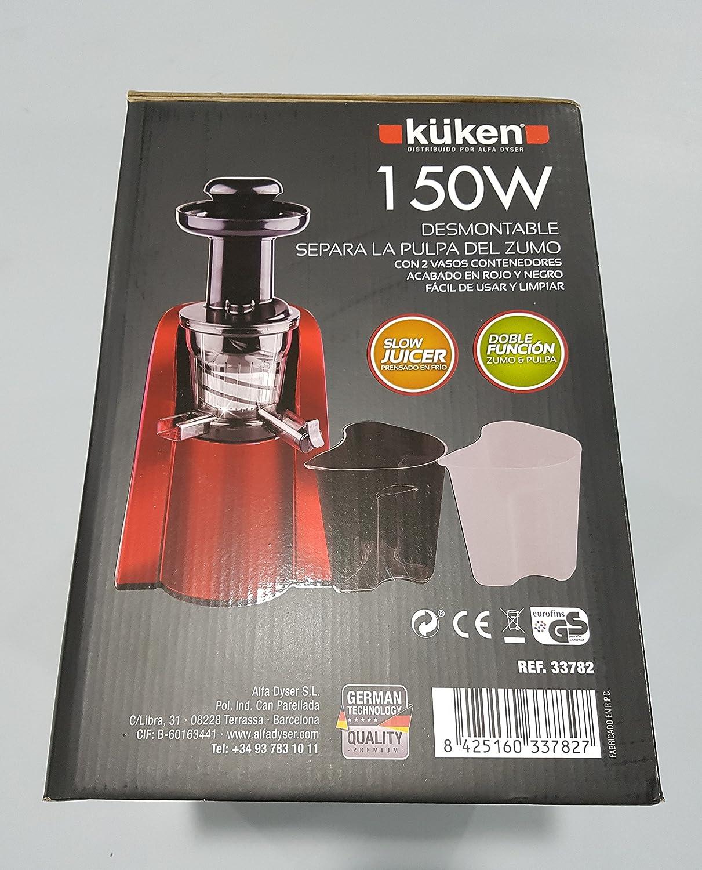 Alfa 33782 Licuadora De Frutas Y Verduras 150W Color Rojo Y Negro ...