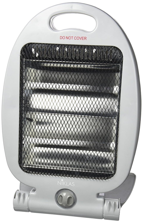 Niklas 539012 Calefactor Electrico De Cuarzo, 400/800 W, Gris, 26 x 20 x 37 cm: Amazon.es: Bricolaje y herramientas