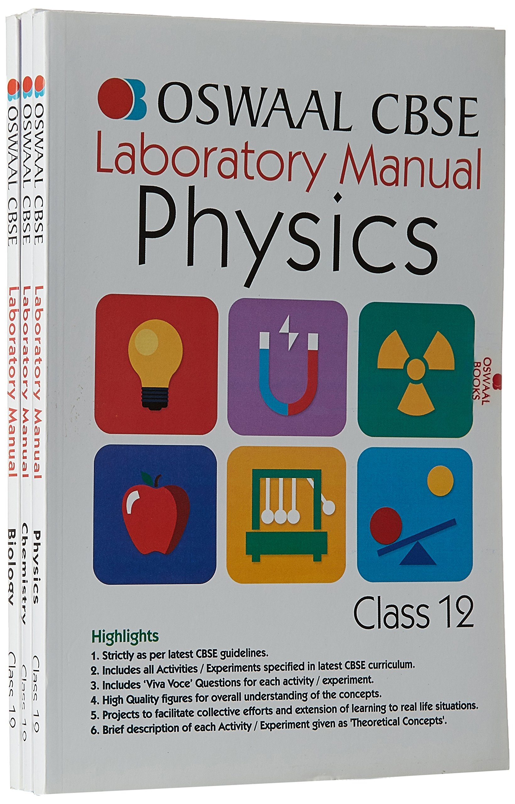 Oswaal CBSE Laboratory Manual for Class 12 Physics, Chemistry & Biology  Paperback