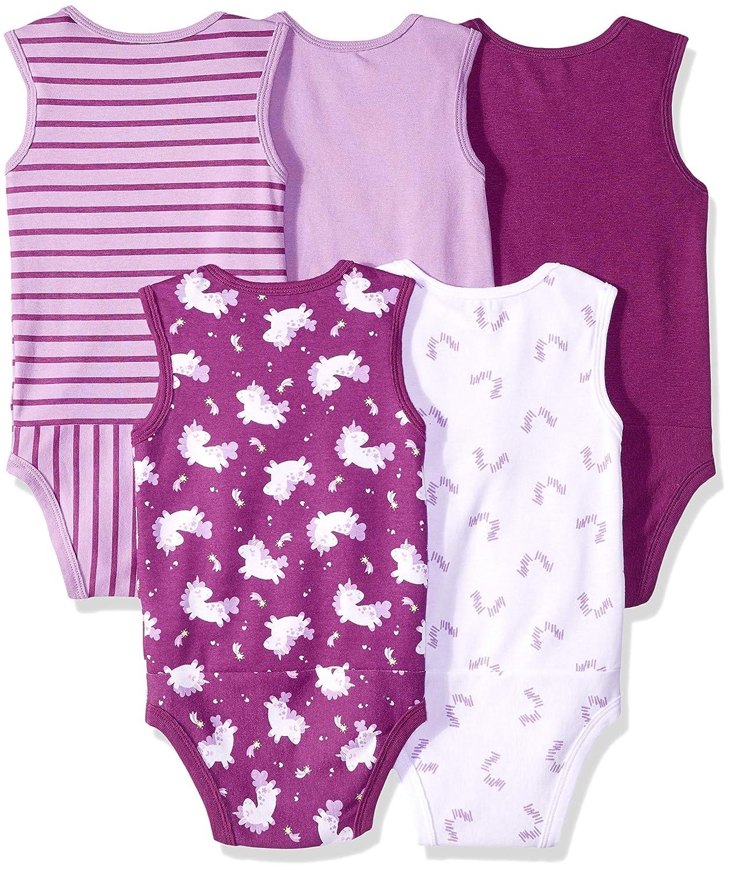 Tanks Hanes Ultimate Baby Flexy 5 Pack Sleeveless Bodysuits