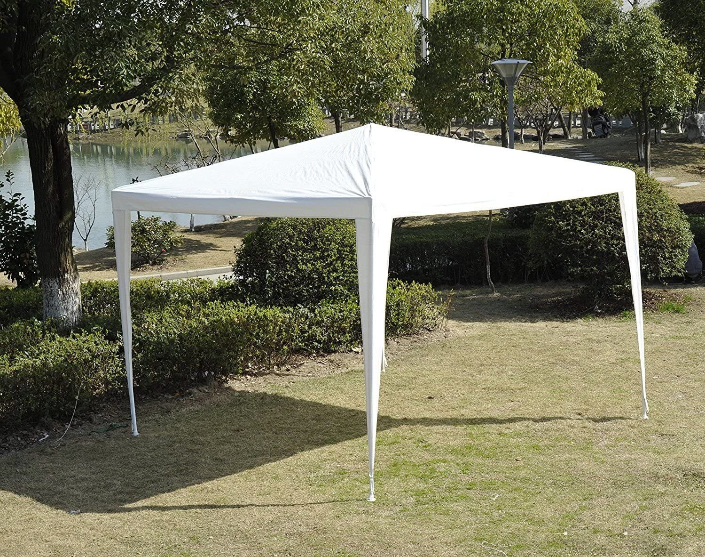 Outsunny Gazebo Tenda Impermeabile per Feste e Eventi da Giardino Esterno 3 x 3 x 2.45m Bianco