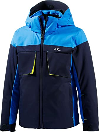Kjus Kids Children Boys Ski Jacket Blau Dunkelblau Gelb Size 164 Eu