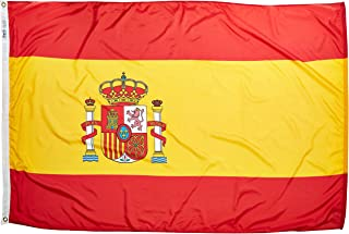 product image for Annin Flagmakers Model 197822 Spain Flag Nylon SolarGuard NYL-Glo, 4x6 ft, 100% Made in USA to Official United Nations Design Specifications