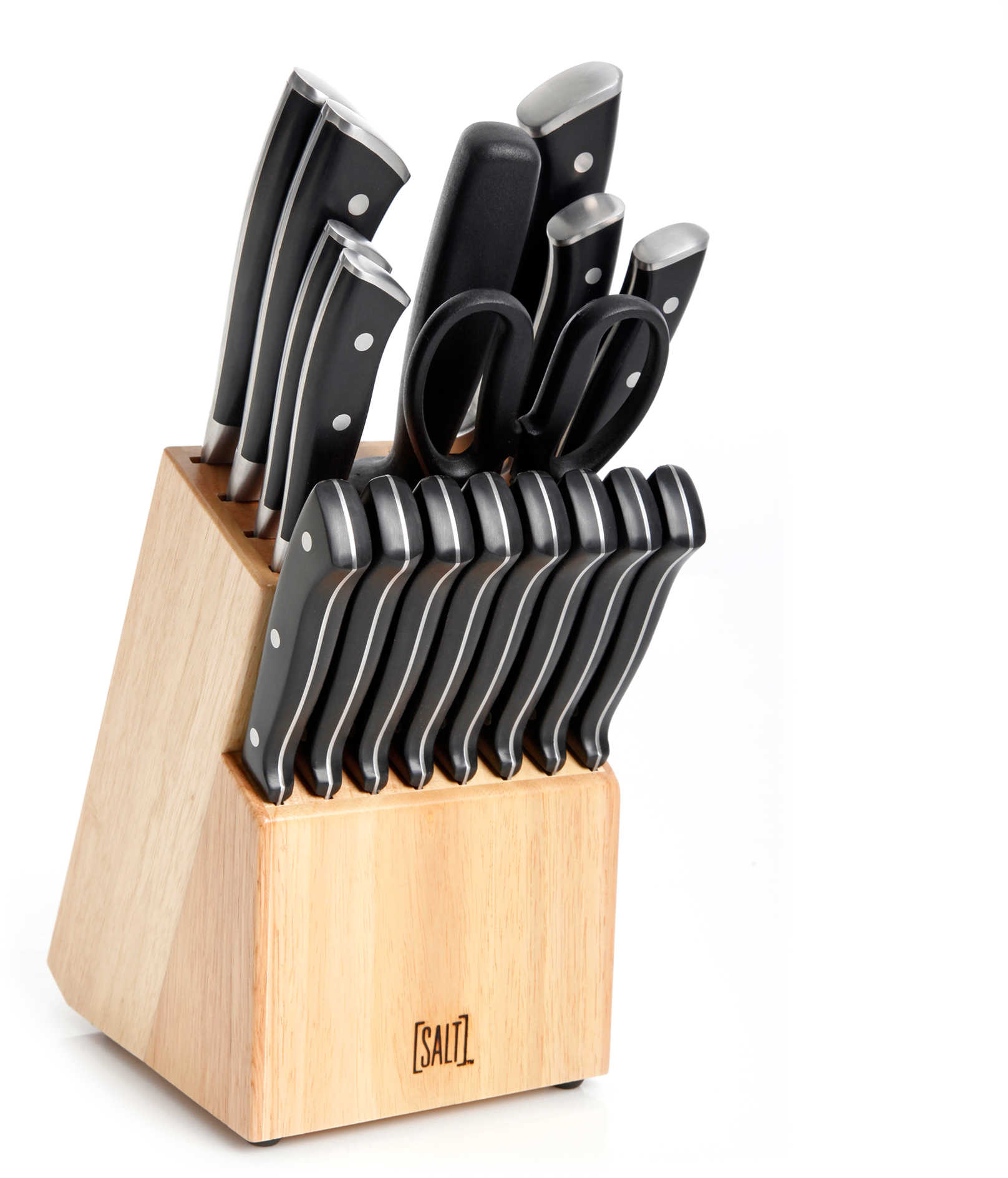 SALT™ Forged Triple Rivet 18-Piece Cutlery Set in Black - Bed Bath & Beyond