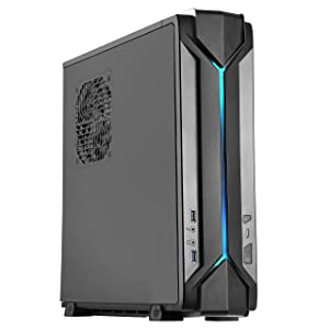 SilverStone Technology Slim Computer Case for Mini-ITX Motherboards with Integrated RGB Lighting RVZ03B