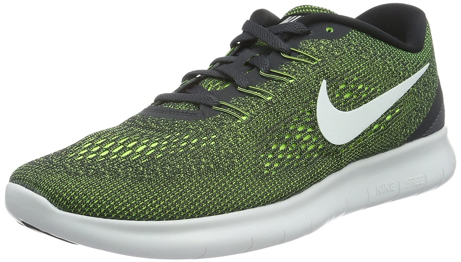 NIKE Men's Free RN Running Shoe B019DGXD8M 12 D(M) US|Anthracite/Off White/Volt/White