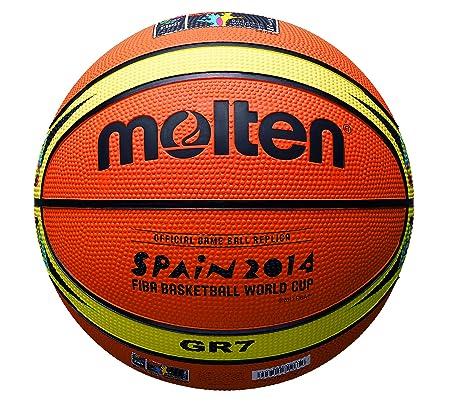 MOLTEN - Balón de baloncesto (tamaño 1, diseño de Mundial de ...