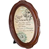 Cottage Garden Good Friends Stars Always There 6 x 8 Mahogany Finish Oval Shaped Picture Frame
