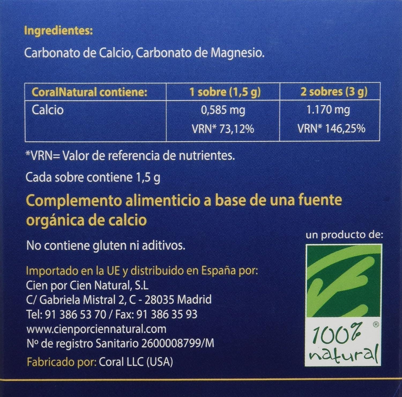 100% natural Coral Natural Minerales - 30 Sobres: Amazon.es: Salud y cuidado personal