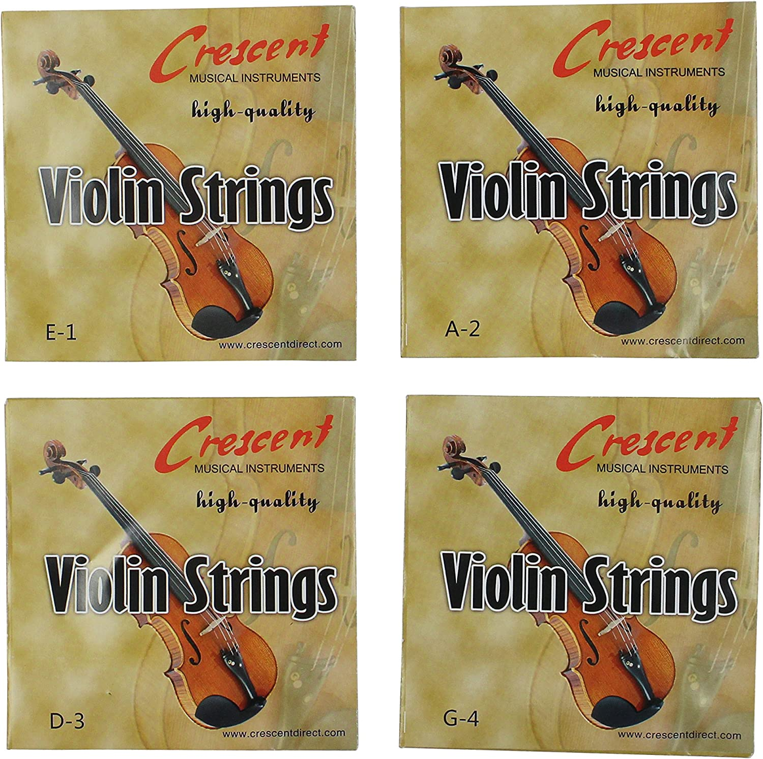 One Set Full Size 4//4 Violin Strings For Sale D /& G. A E
