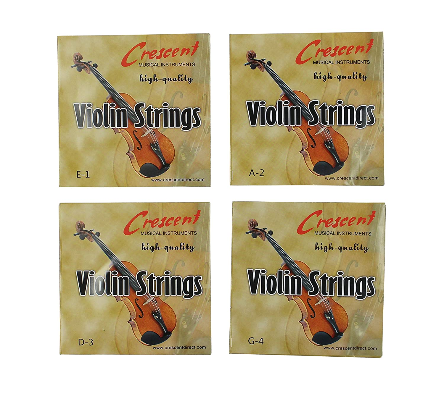 Set of 4/4 Violin Bowstring Strings (G-D-A-E) uxcell VL-Strings