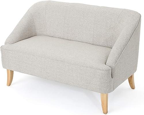 Christopher Knight Home 302027 Jasper Mid Century Modern Fabric Loveseat Beige ,