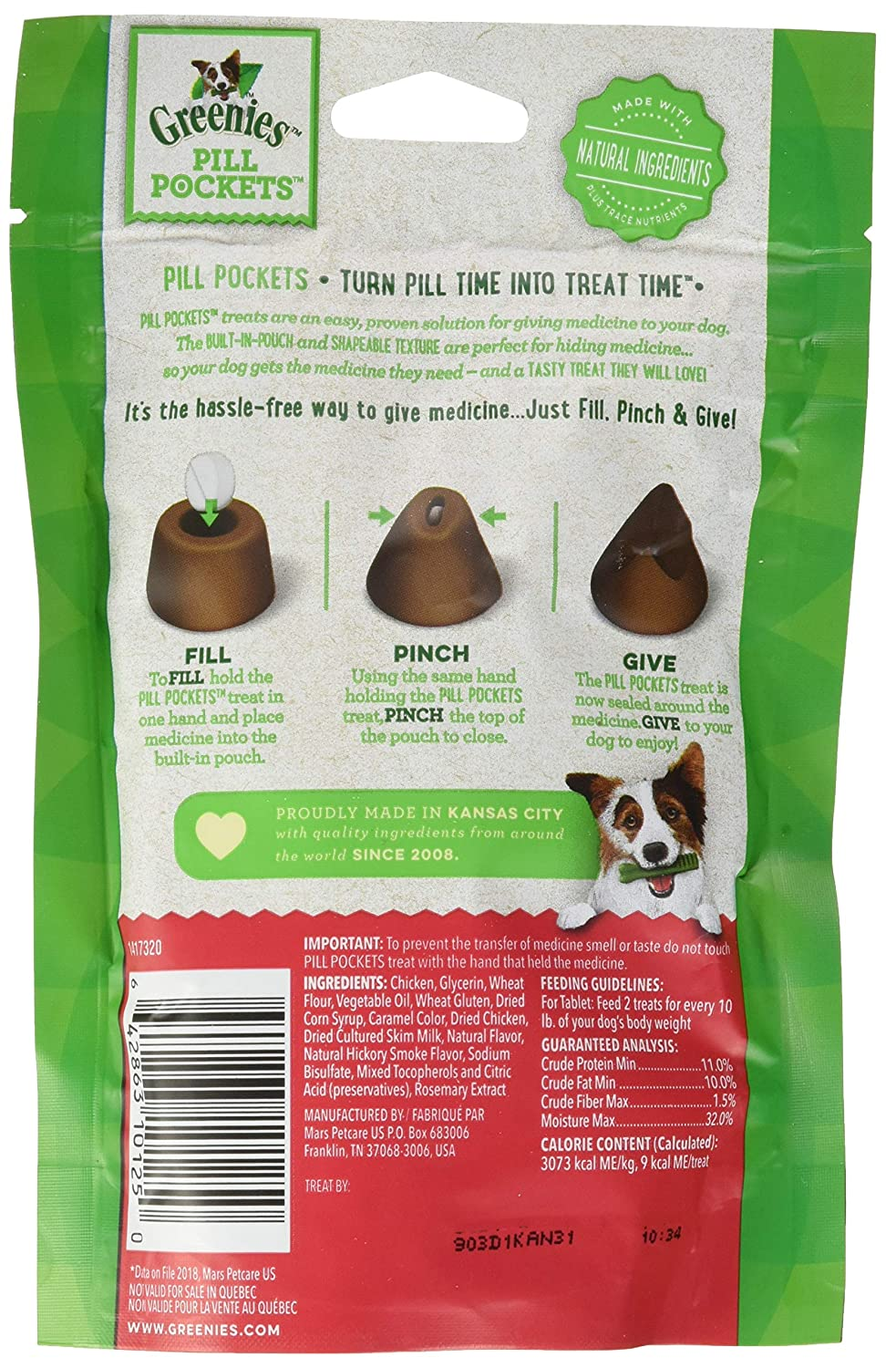 Greenies Pill Pockets Tablet Variety Bundle 6-Pack 6 Bags Total – 2 of each flavor