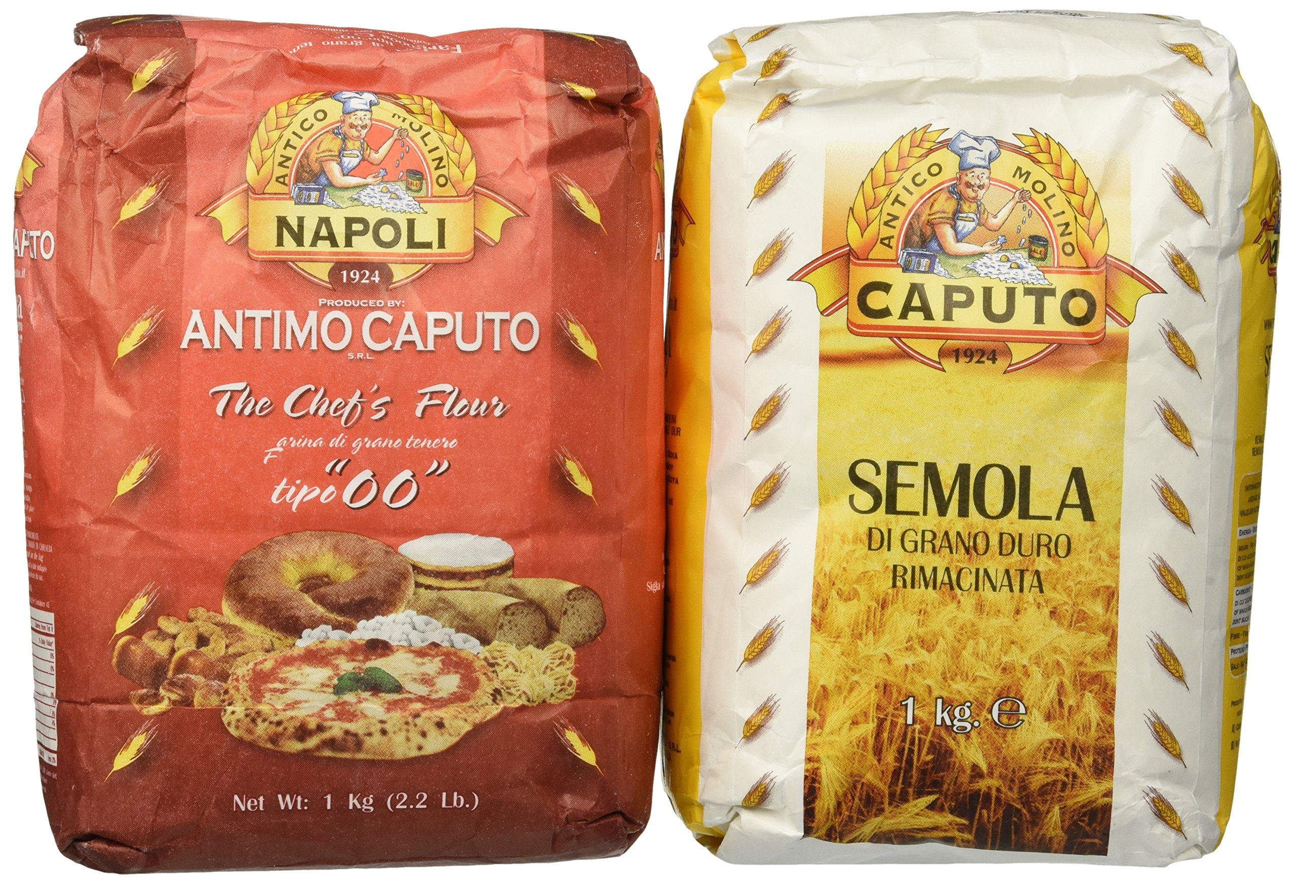 Molino Antimo Caputo '00' Flour + Semola Flour (1+1 bags) by Molino Antimo Caputo Napoli