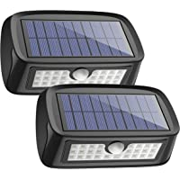 2-Pack Aptoyu Waterproof 26-LED Outdoor Security Wall Solar Light