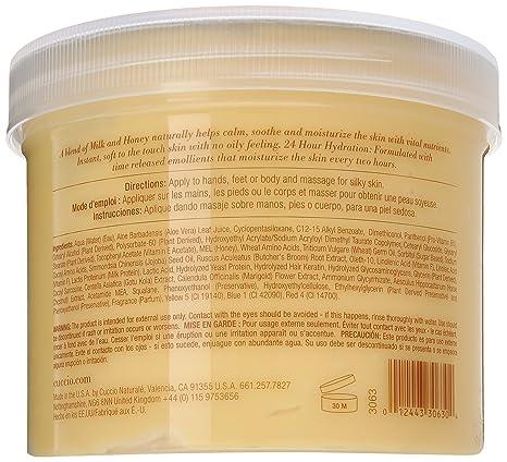 Cuccio Natural mezcla de mantequilla, leche y miel 750 G: Amazon.es: Belleza